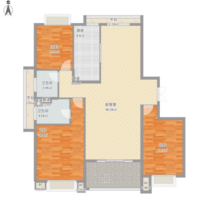 全国-山东省烟台市莱州御龙居26号楼二单元一楼西154.7平米-设计方案