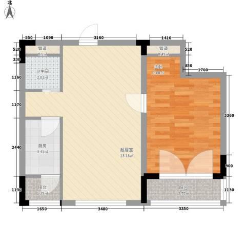 安达天下1室0厅1卫1厨69.00㎡户型图