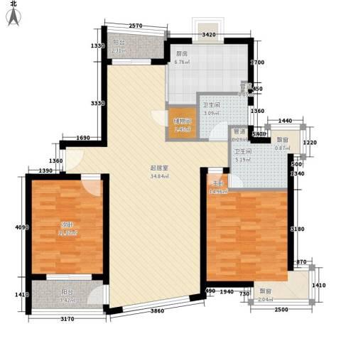 罗山花苑2室0厅2卫1厨120.00㎡户型图
