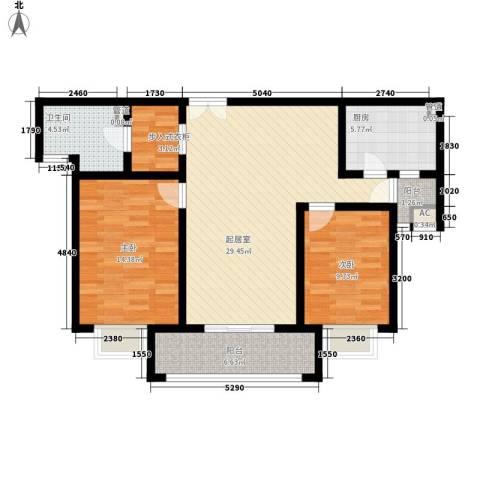 金桥瑞仕花园2室0厅1卫1厨110.00㎡户型图