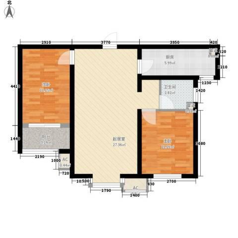 隆岗新村2室0厅1卫1厨86.00㎡户型图