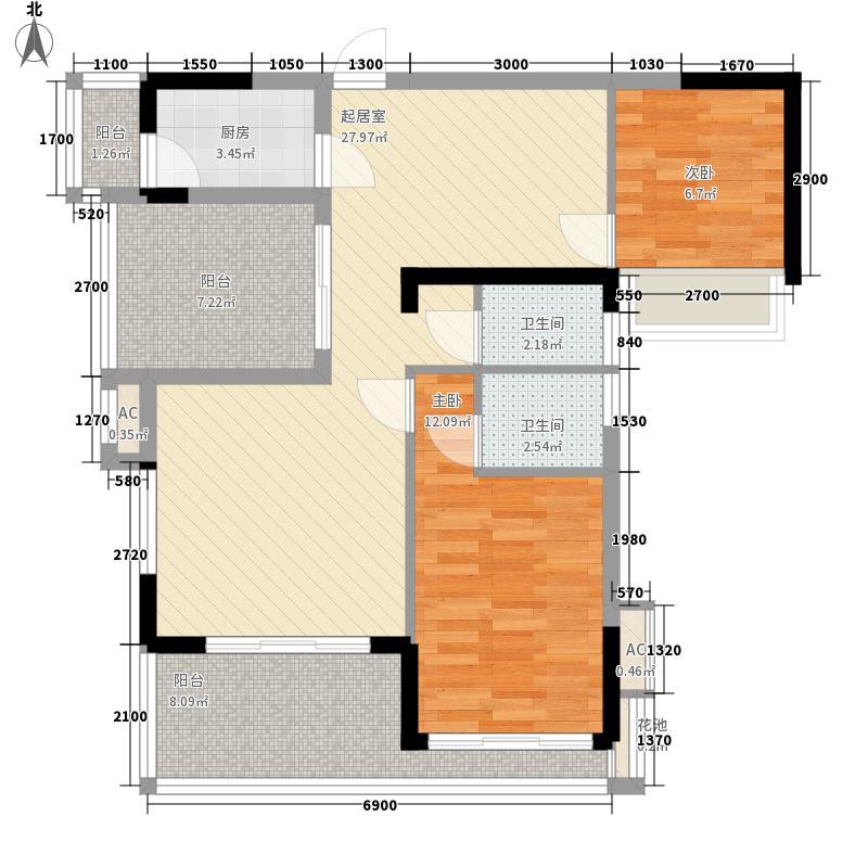 万泉源居87.49㎡万泉源居户型图户型图2室2厅2卫1厨户型2室2厅2卫1厨