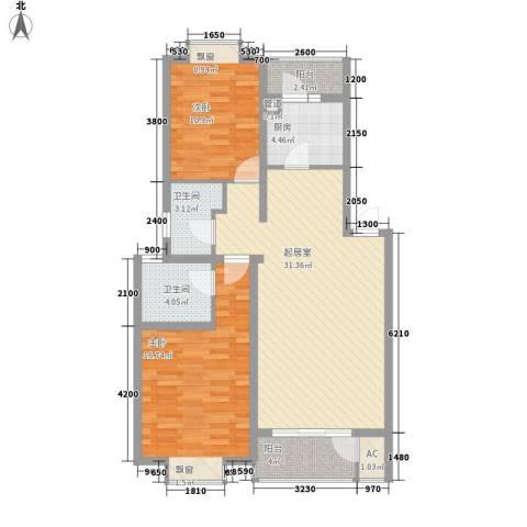 隆岗新村2室0厅2卫1厨78.16㎡户型图