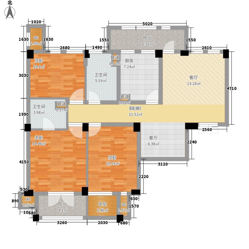 绿城桂花园119.00㎡绿城桂花园户型图8D3室2厅2卫1厨户型3室2厅2卫1厨