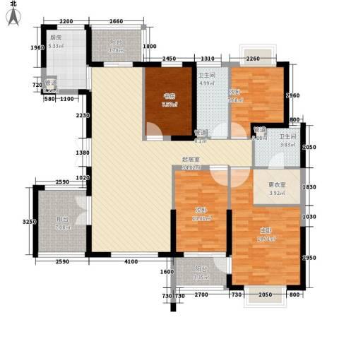 联佳大厦4室0厅2卫1厨146.00㎡户型图