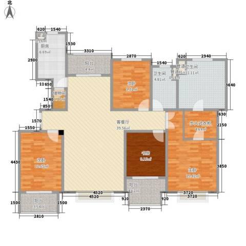 博威黄金海岸4室1厅2卫1厨179.00㎡户型图