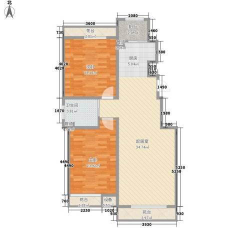 一品红城五期2室0厅1卫0厨93.00㎡户型图