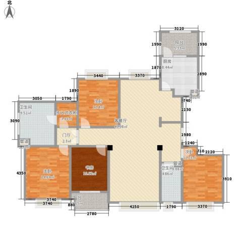 博威黄金海岸4室1厅2卫1厨195.00㎡户型图