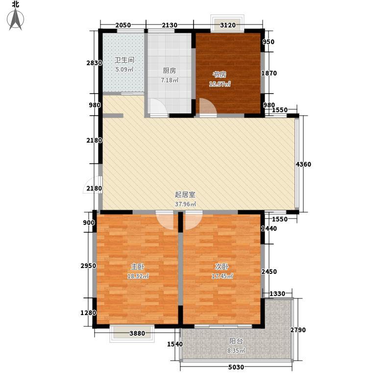 迎龙阁135.94㎡户型B户型3室2厅1卫1厨