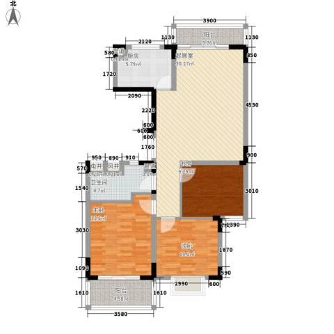 祥和人家3室0厅1卫1厨119.00㎡户型图