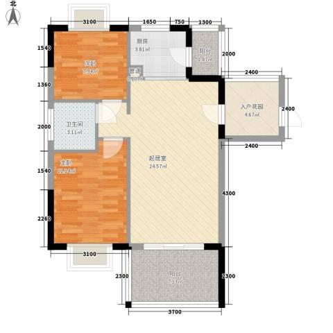 翠堤春晓2室0厅1卫1厨92.00㎡户型图