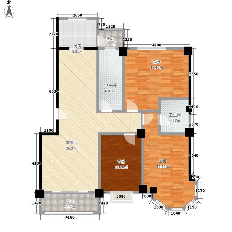聚金兰庭112.96㎡E户型3室2厅2卫1厨