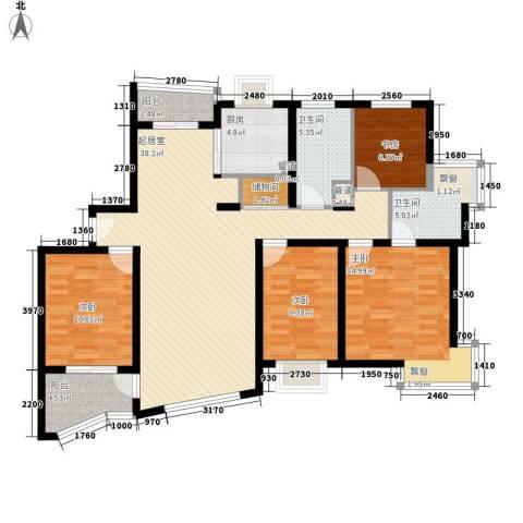 罗山花苑4室0厅2卫1厨150.00㎡户型图