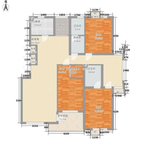 泊爱蓝岛3室0厅2卫1厨149.00㎡户型图