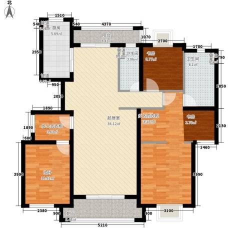 金桥瑞仕花园3室0厅2卫1厨180.00㎡户型图