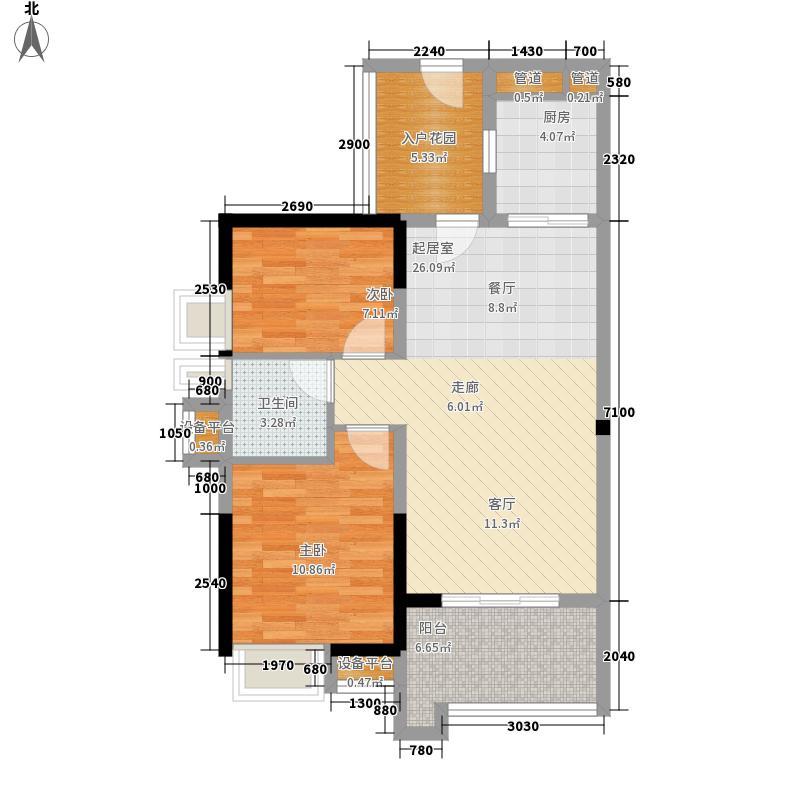卓越东部蔚蓝海岸户型2室2厅