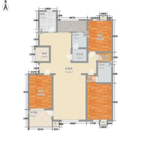 泊爱蓝岛3室0厅2卫1厨154.00㎡户型图