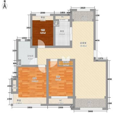 绿地世纪城3室0厅1卫1厨116.00㎡户型图