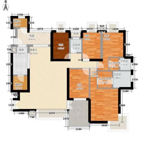 风华豪庭5室1厅3卫1厨127.00㎡户型图