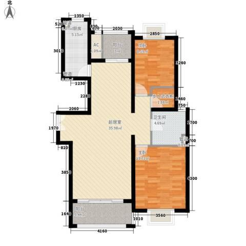 金桥瑞仕花园2室0厅1卫1厨115.00㎡户型图
