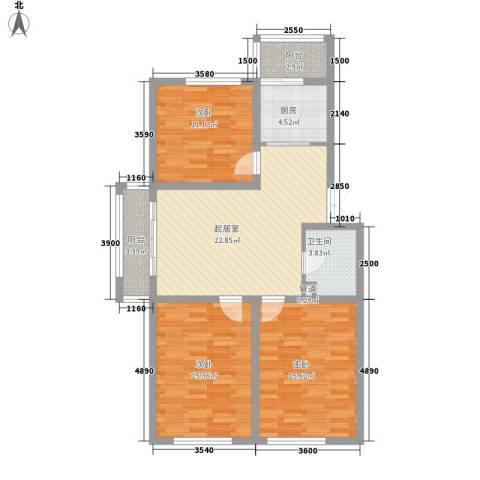 光机八区3室0厅1卫1厨115.00㎡户型图