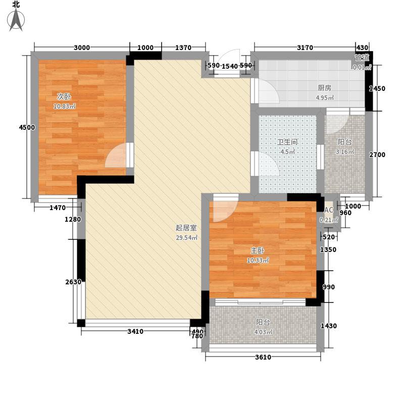 新景・西城上筑118.35㎡D户型3室2厅1卫1厨
