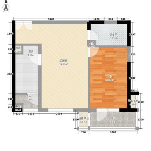 金杨六街坊1室0厅1卫1厨70.00㎡户型图