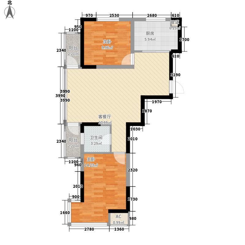 名门国际88.33㎡名门国际户型图G1户型2室2厅1卫户型2室2厅1卫