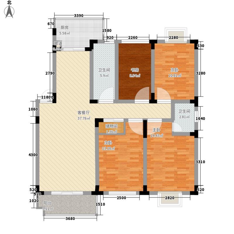 新安江花园153.00㎡新安江花园户型图4室2厅2卫1厨户型10室