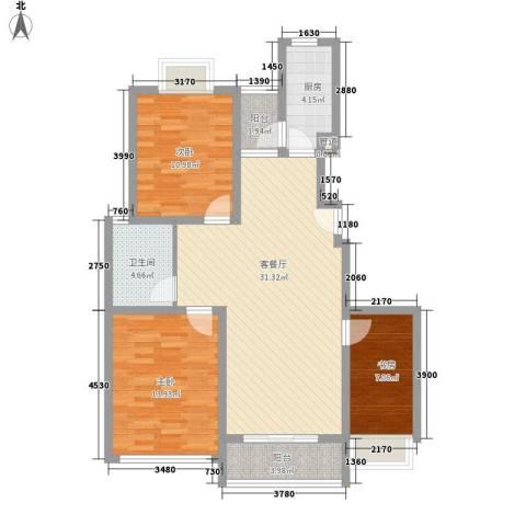 申润・江涛苑3室1厅1卫1厨114.00㎡户型图