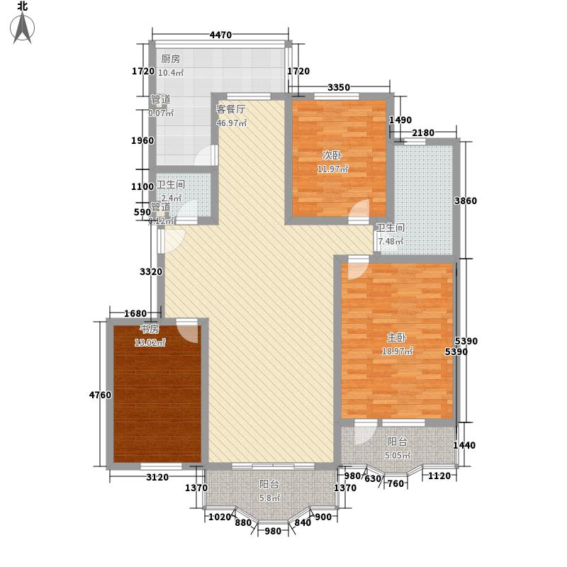 欧洲阳光城174.13㎡F户型3室2厅2卫1厨