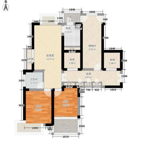 乐天桐墅湾2室0厅1卫1厨98.00㎡户型图