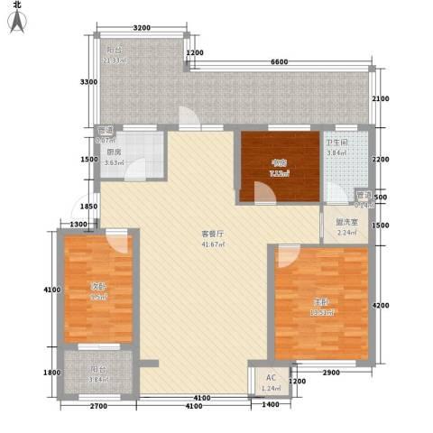 飞悦经典3室1厅1卫1厨109.00㎡户型图