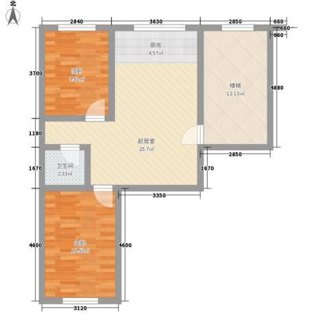 龙盛家园2室0厅1卫0厨71.00㎡户型图