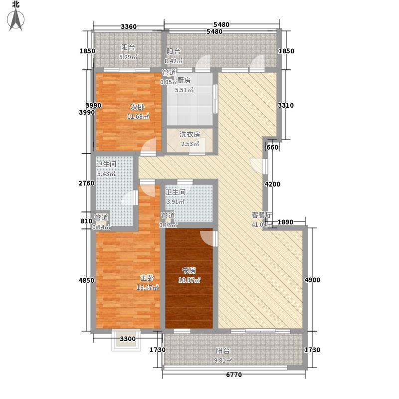 永利金色花园177.26㎡C1-1户型3室2厅2卫1厨