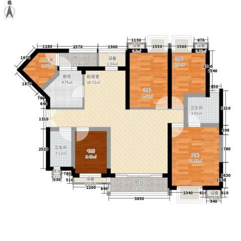长城盛世家园二期4室0厅2卫1厨123.00㎡户型图