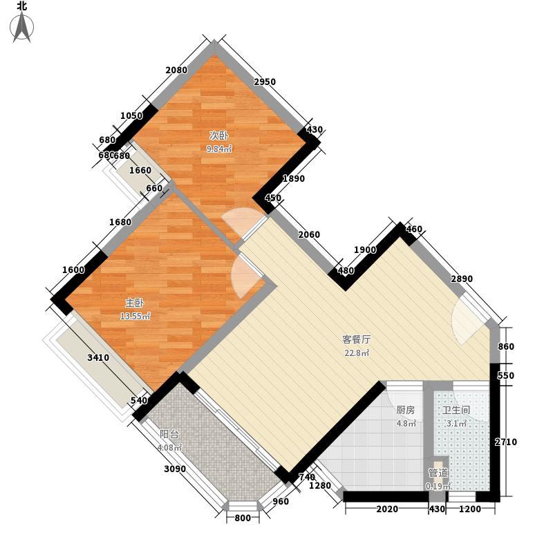 恒大帝景一期16、17号楼2、5号房户型2室2厅