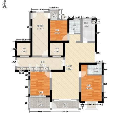 乐天桐墅湾3室0厅2卫1厨142.00㎡户型图