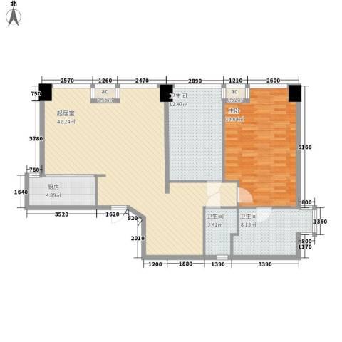 瞰都・领仕馆1室0厅3卫1厨128.00㎡户型图