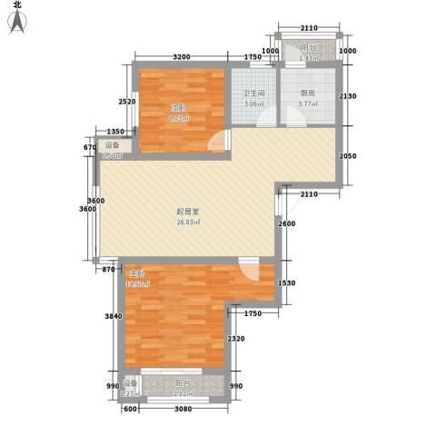 SR国际新城三期2室0厅1卫1厨106.00㎡户型图