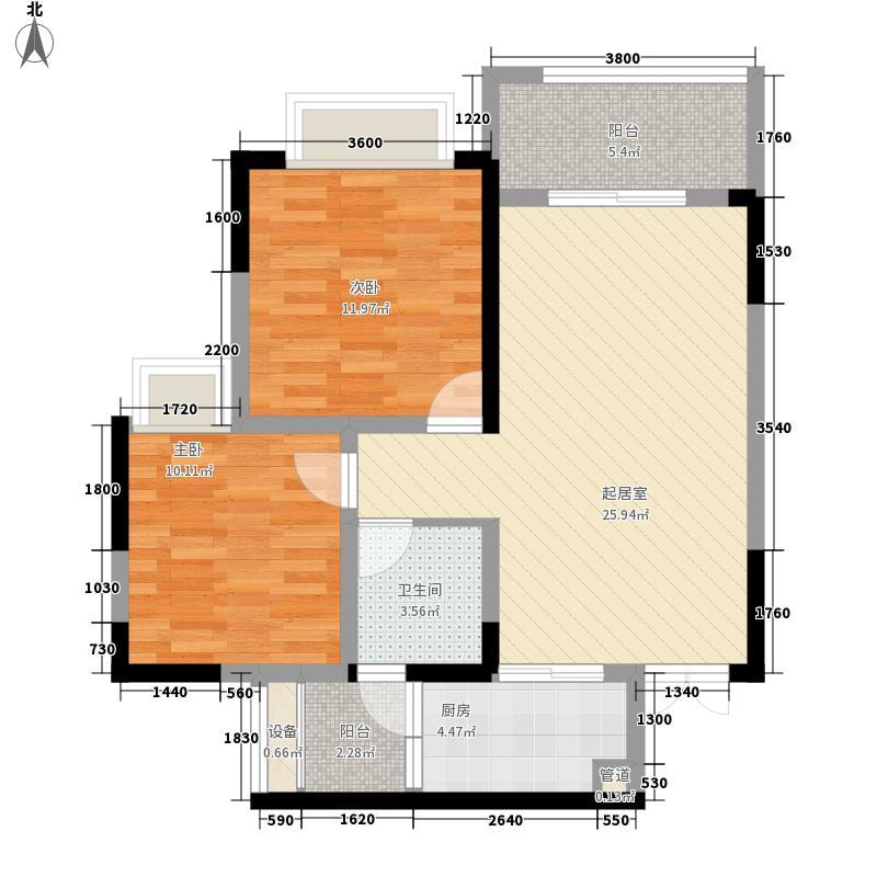 美利山公园城市五期185栋高层M1户型2室2厅