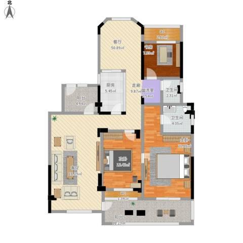 城置金色年华3室1厅2卫1厨180.00㎡户型图