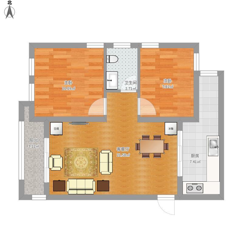 圣鑫城1406两室两厅
