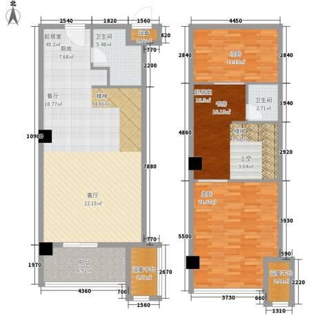香格梅里公馆2室0厅2卫0厨115.16㎡户型图