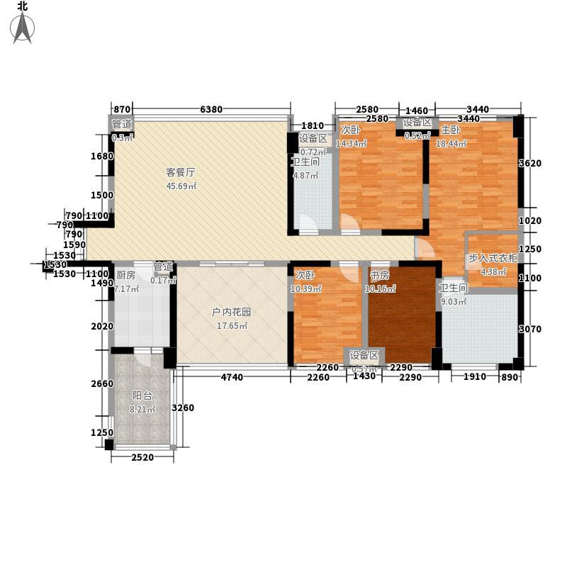 戛纳湾金棕榈163.00㎡四期T3-1户型4室3厅2卫1厨