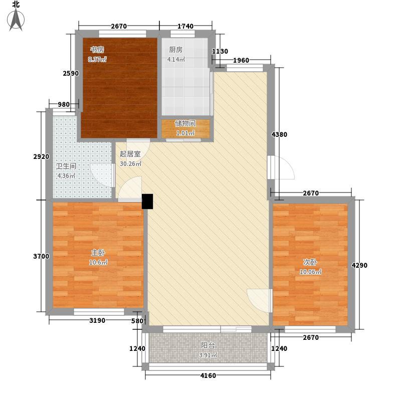水畔香谷103.00㎡水畔香谷户型图3室2厅1卫1厨户型10室