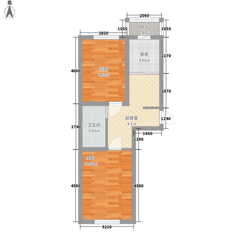 枫桦美地58.91㎡枫桦美地58.91㎡2室1厅1卫1厨户型2室1厅1卫1厨