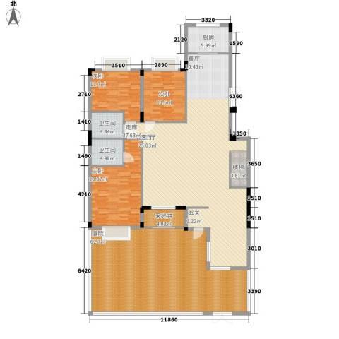 印象江南3室1厅2卫1厨202.42㎡户型图