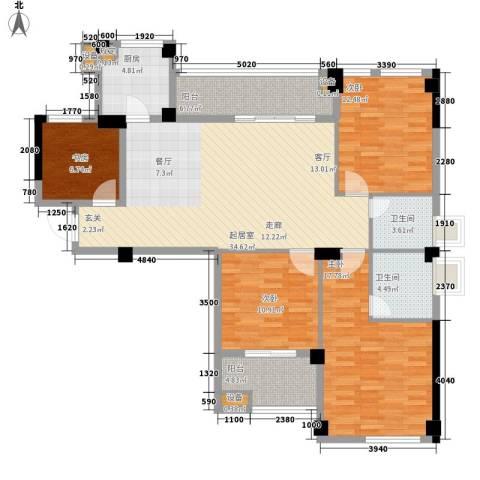 阳光城新界4室0厅2卫1厨122.00㎡户型图
