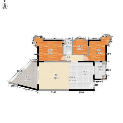 碧桂园十里银滩3室0厅1卫1厨105.00㎡户型图